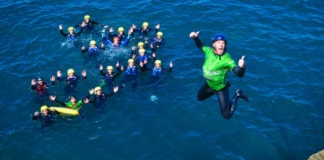 Military Adventure Training Coasteering