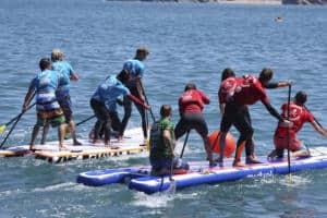 Corporate Team Building Super SUP Racing Newquay